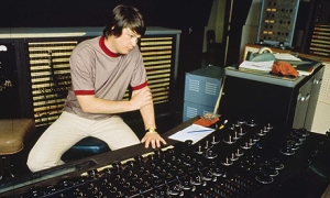 BrianWilson in the studio