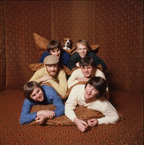 The Beach Boys in the tent