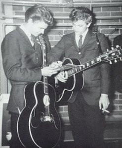 Everly Brothers with Black Gibson Guitars